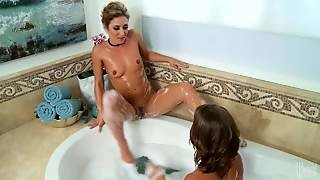 Presley Hart And Sheena Shaw Are Sexy Lesbian Ladies With