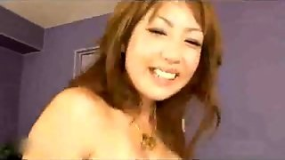 Busty Japanese Whore In Stockings Gets A Dp Fuck