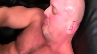 Gay Muscle Bouncing On Hard Cock