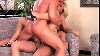 Classy Blonde Double Penetration With Close Up