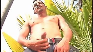 Black Guy Whips Out His Big Cock Outdoors