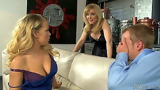 Britney Young Is Caught By Her Milf Mom Nina Hartley With A Big Cock In Her Mouth, And To Her Shock, Mummy Decides To Join Them And Teach Her Daughter A Trick Or Two...