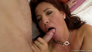 Mature Feels The Best Feeling Ever With Guys Sticky Man Goo All Over Her Face