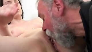 Old Guy Enjoys A Teen