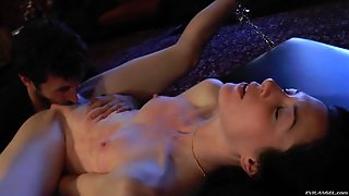 James Deen Fucks Stoya's Butt In The Missionary Pose