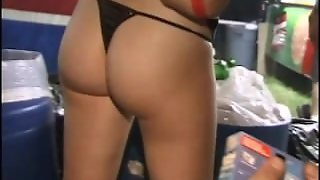 Back Stage Girls Flashing At Music Festival