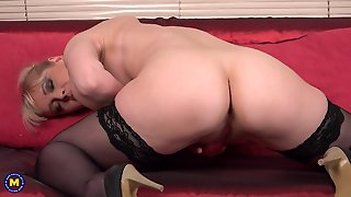 High Heels, Natural Tits, Hd, Stockings, Straight, Blonde, Fingering, Big Tits, Shaved Pussy