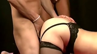 Asian Milf Gets Gangbanged On A Bed