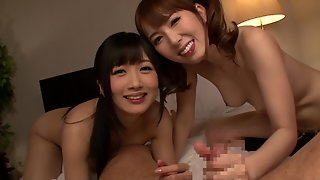 Hibiki Otsuki In A Threesome With Another Horny Japanese Sex Machine