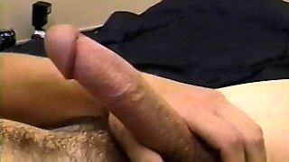 Young Straight Guy With A Monster Cock Jacks Off For The Cameras