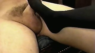 Cock Teaser In Stockings And Heels