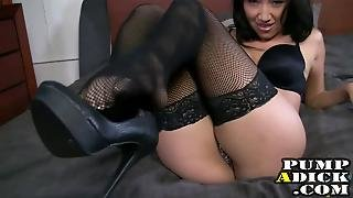 Sexy Asian In Stockings