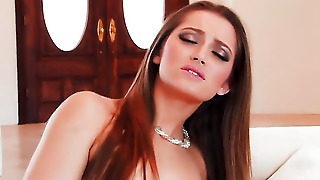 Dani Daniels With Smooth Muff Fills The Hole Between Her Legs With Vibrator For Cam In Solo Scene
