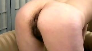 Women Shows Off Dense Hairy Asshole In Audition