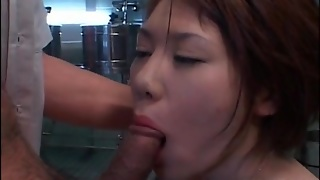 Enema Squirted Into Her Hairy Japanese Pussy