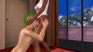 A 3D Ebony Shemale Is Fucking A Hot 3D Hunk