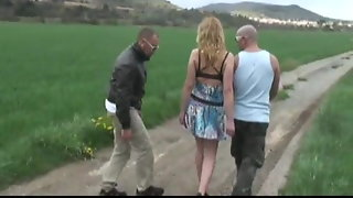 Blonde Fucked In A Threesome By Stefano