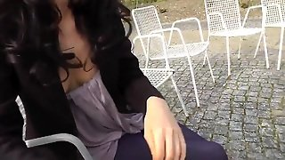 Hot German Public Masturbation And Outdoor Blowjob