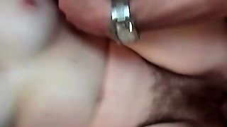 Cumshot On A Hairy Pussy