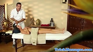 Massage Lover Getting Tit Massaged