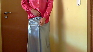 Satin Skirt Satin Blouse