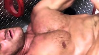 Jizz Loving Muscled Firemen 5 Men Orgy
