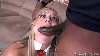 Interracial Anal Banging In Front Of A Cuckold
