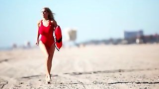Jordan Carver Goes Baywatch