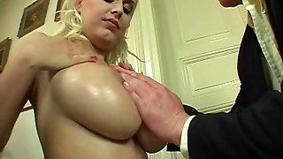 Big Cumshot On Big Tits