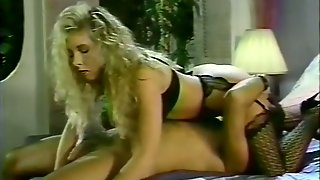 Blonde Gorgeous Lady In Black Lingerie Prefers 69 Style