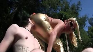 Hot Mom Gives Femdom Handjob To Disabled Guy
