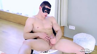 Hard Abs Hunk Flexes His Muscles And Strokes His Dick