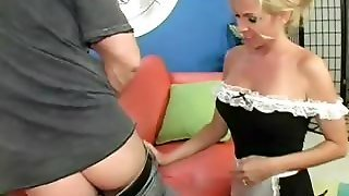Horny Mommy Licking A Guy's Butt