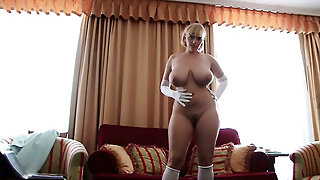 Sofa, Livingroom, Stockings, Milf, Hot Mom, Blond, Stocking, Natural Tits, Solo Girl, Shoes, High Heels