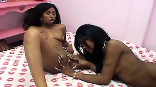Amateur, Small Tits, Black And Ebony, Nipples, Fingering, Lesbian, Lick, Toys
