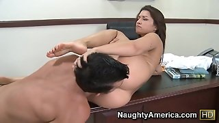 Ann Marie Rios & Billy Glide In Naughty Office