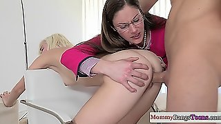 Teen Young, Mature And Teen Threesome, Young Riding, Milf In Glasses, Teens Mom, Cougar Blow Job, Blow Job Glasses, Mom And Mature, Mother Mature Milf, Momcougar
