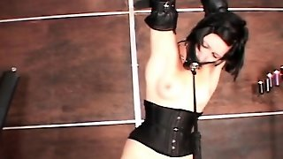 Horny Gagged Slut Gets Cunt Machine Fucked