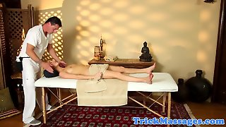 Massage Amateur Cocksucking Her Lucky Masseur