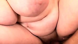 Fat Mature Bitch In Glasses Gets Harpooned By A Young Dude's Dick