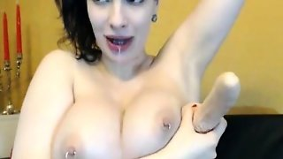 Busty Babe Pierced Nipples And Pussy