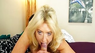 Busty Milf Wakes Up A Young Dude