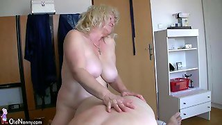 Very Chubby Girl And Old Granny Sucks A Dick