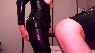 Pegging In Catsuit