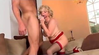 Hornny Granny Fucked By Young Guy