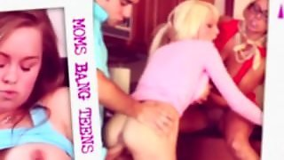 Moms Bang Teens - Stepmom Shows Couple What To Do