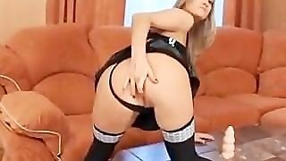 Russian Slut Takes Two Cocks In Her Ass