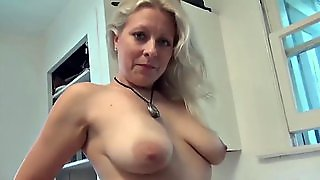 Milf Solo Play At Kitchen