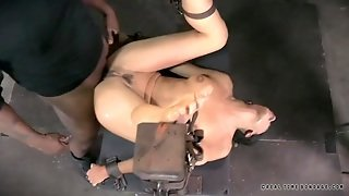 Living Sex Toy Is Bound And Fucked By Two Guys