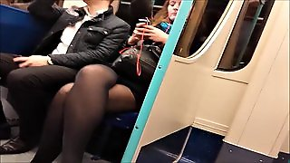 Sex Maniac Filming Girls' Legs And Stockings In Public